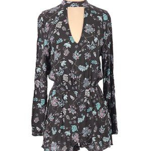 Aeropostale Floral Long Sleeve Romper NWT Small